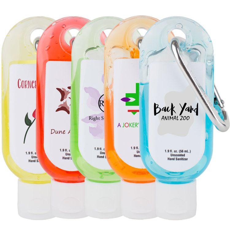 Hand Sanitizer With Carabiner Clip 2oz This Hand Sanitizer Is A
