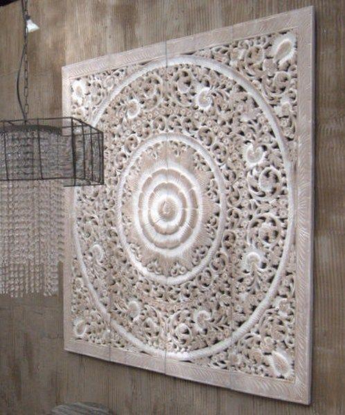 Houtsnijwerk paneel 120×120 cm   Kleuren voor muren   Pinterest
