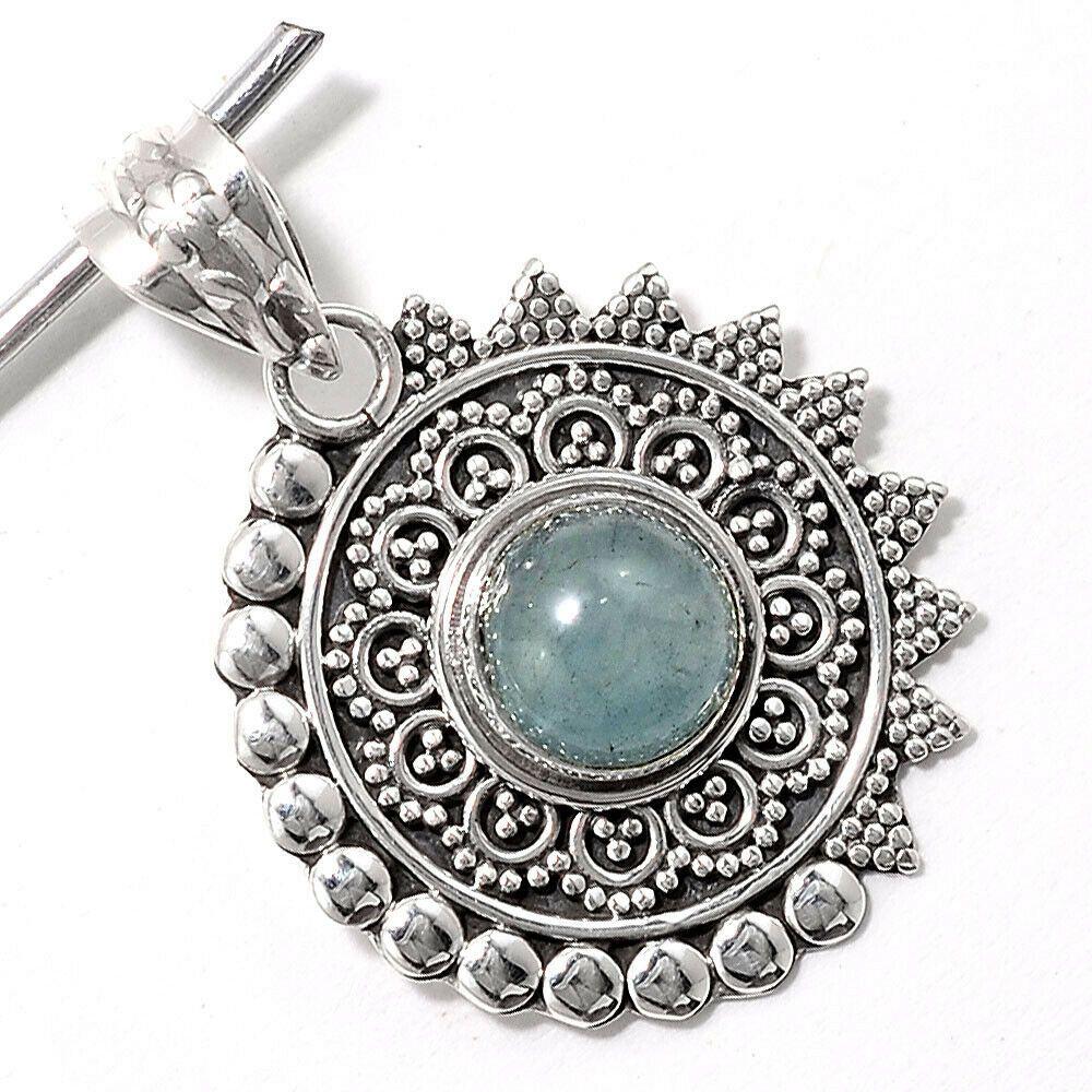 Aquamarine Pendant Pendant 925 Silver 925 Sterling Silver Aquamarine jewellery Handmade Designer pendant Natural Aquamarine