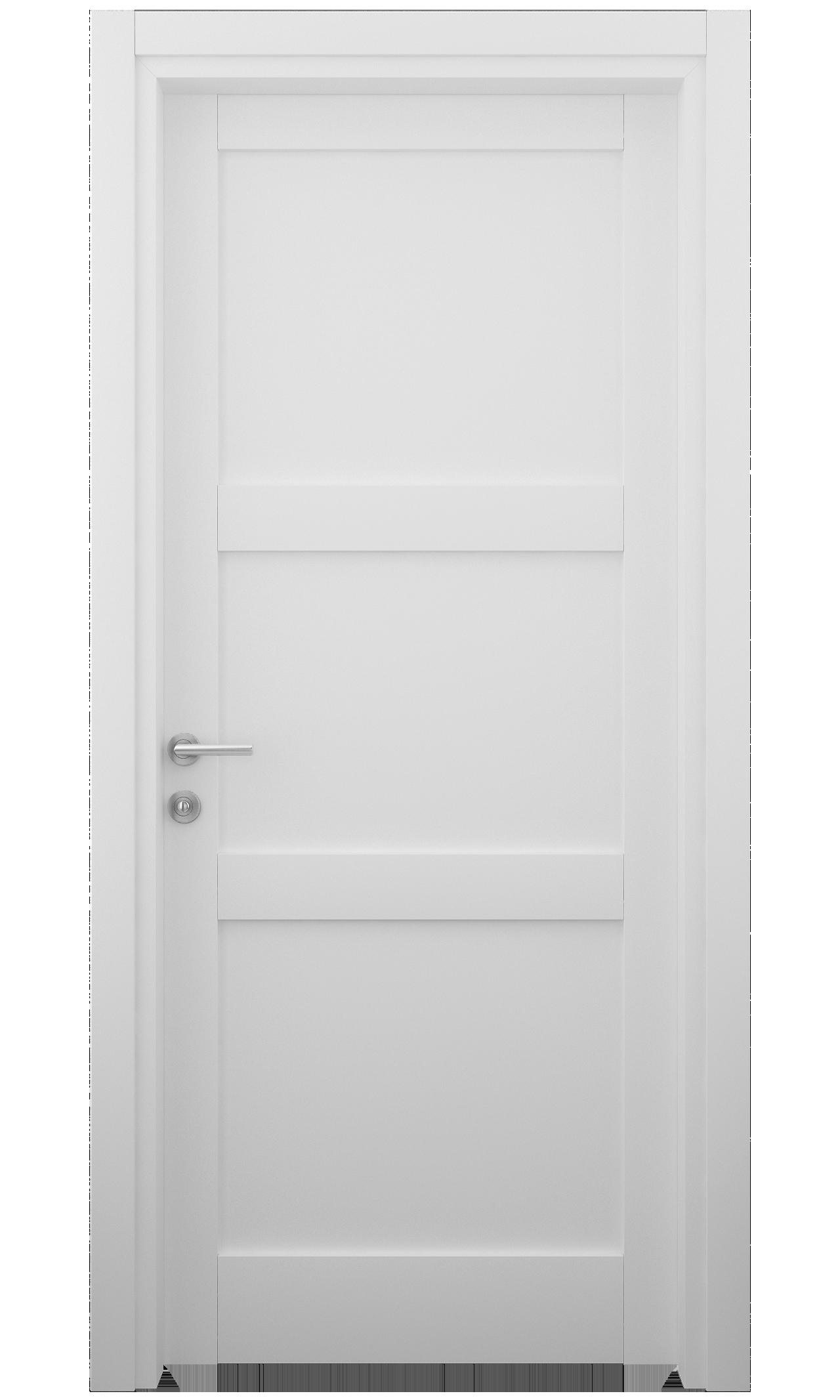 Transitional Swing Door In Matte White Finish Transitional Interior Doors Transitional Doors Internal Doors Modern
