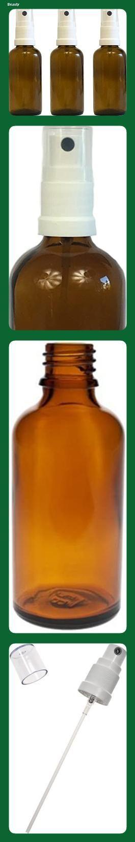 Fingerzerst/äuber Spr/ühflaschen Pumpspr/üher kleine Glasflaschen Parf/ümzerst/äuber Made in Germany F/üllmenge 50 ml Apotheker-Spr/ühflasche aus Braunglas Zerst/äubereffekt 3 teilig