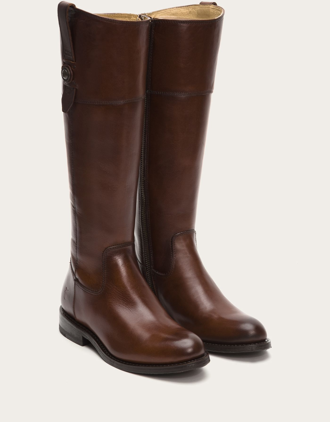 A modern classic riding boot. FRYE | Jayden Button Tall - Black