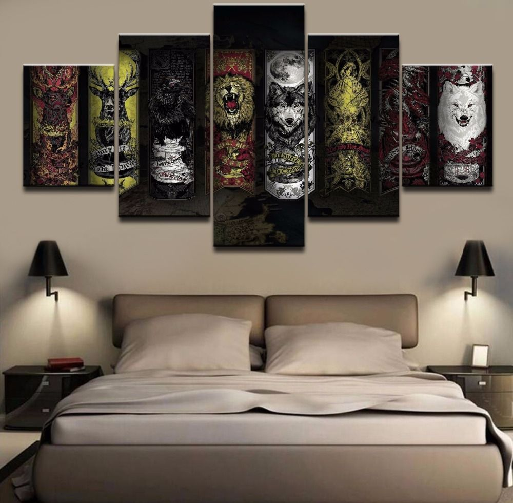 New 5 Piece Large Game Of Thrones Cuadros Decoracion Paintings on ...