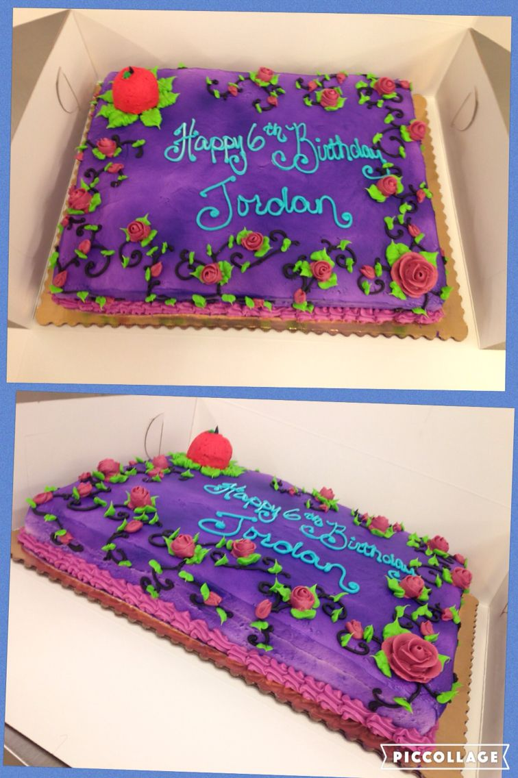 Disney Descendants themed cake | Themed cakes, Cake, Food ...
