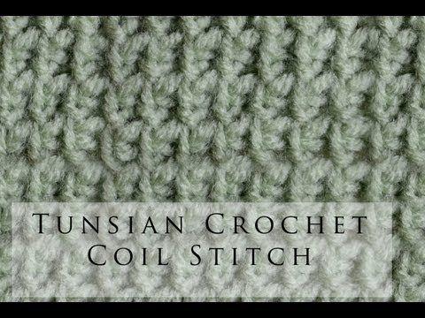 Tunisian Crochet Coil Stitch - YouTube | punto tunecino | Pinterest ...