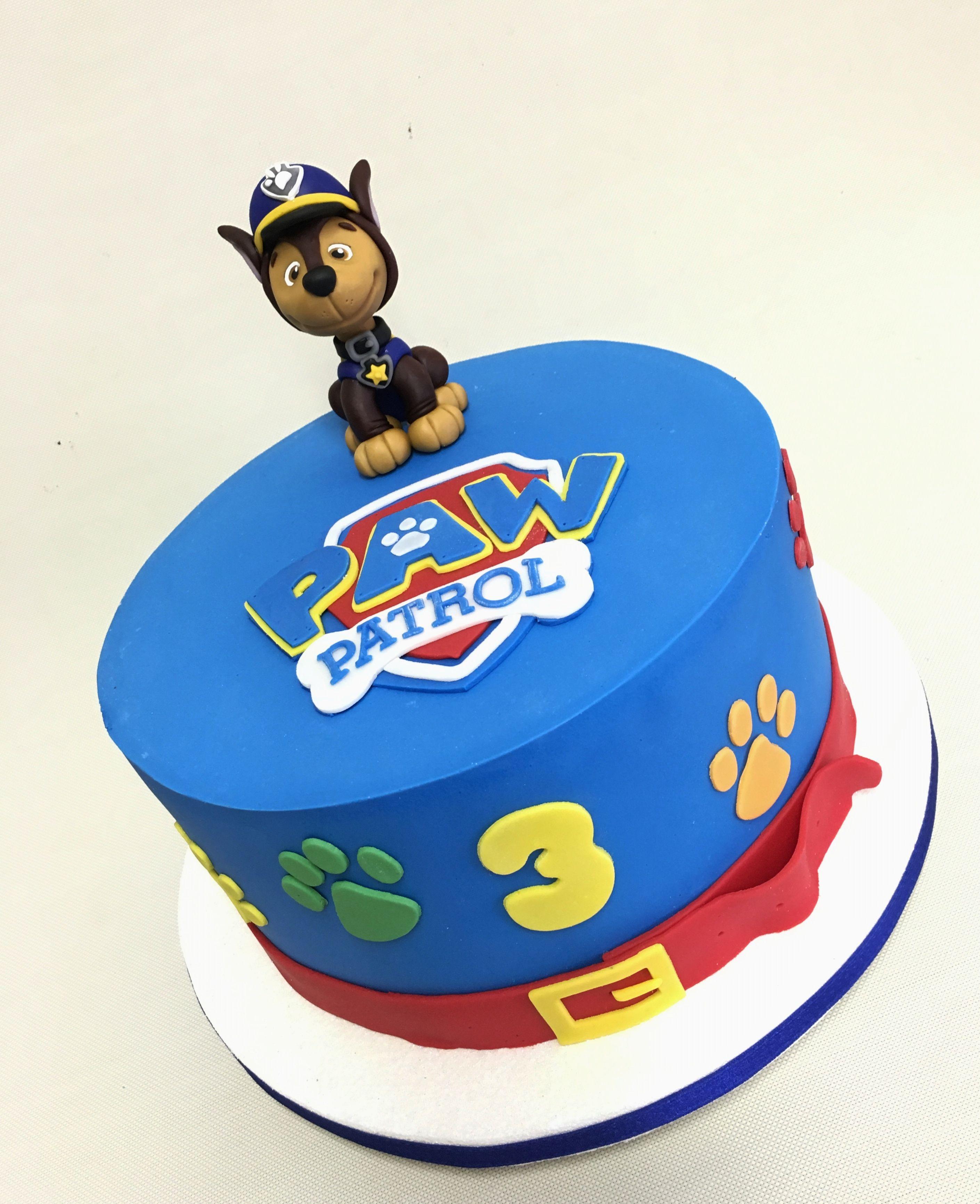 Paw Patrol Cake Chase Violeta Glace Birthdays Cakes En