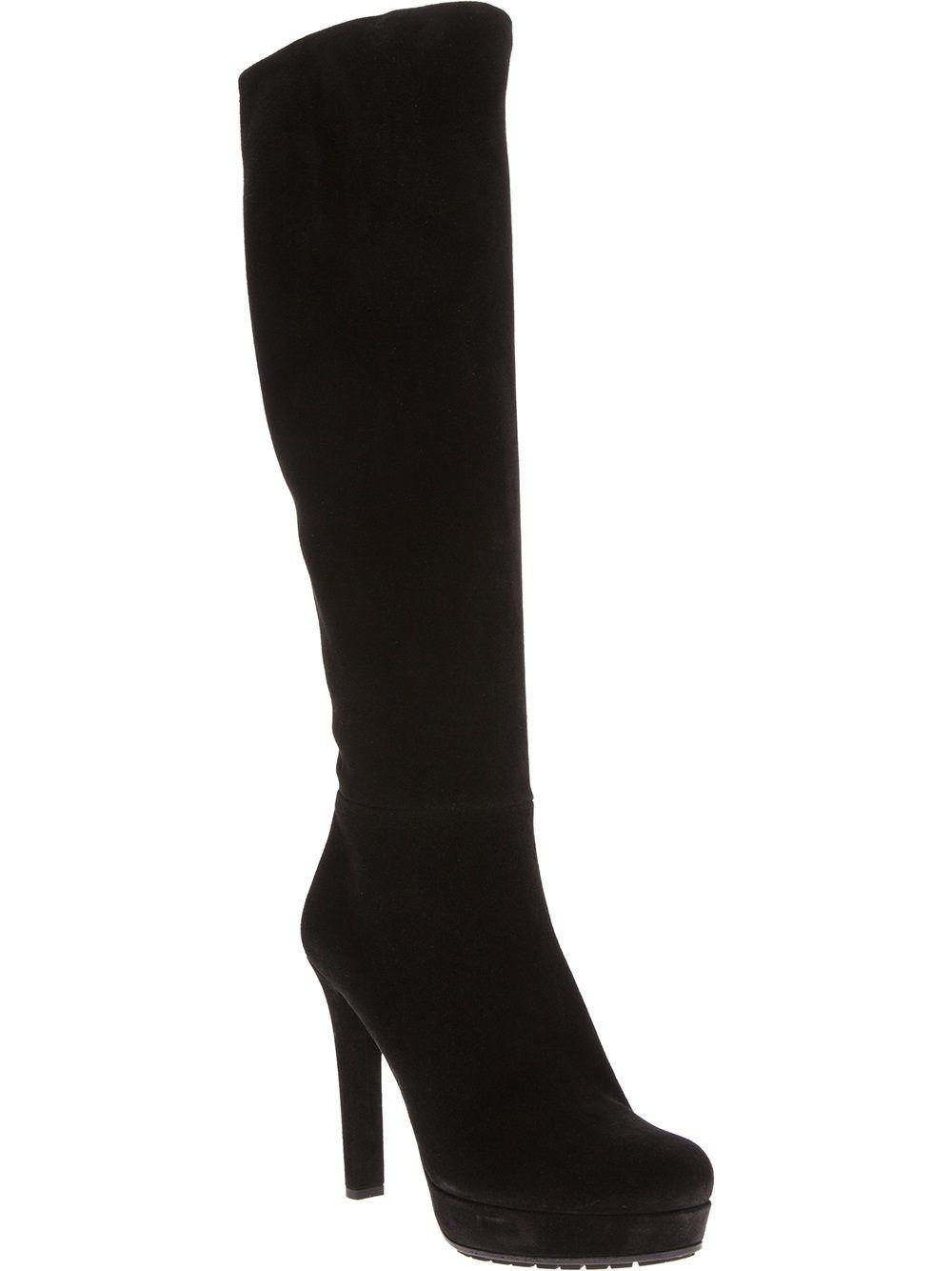 Gucci black high heeled boot high heel boots heels boots