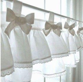 valance to make Girls Room Pinterest Cortinas Cocinas y