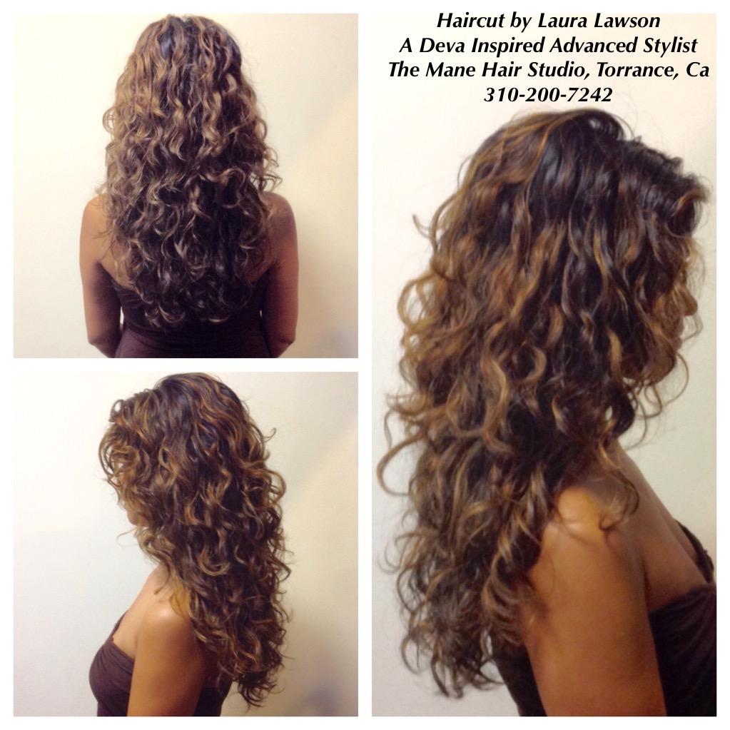 Deva Waterfall With Bangs Google Search Long Layered Curly Hair Long Curly Haircuts Short Permed Hair