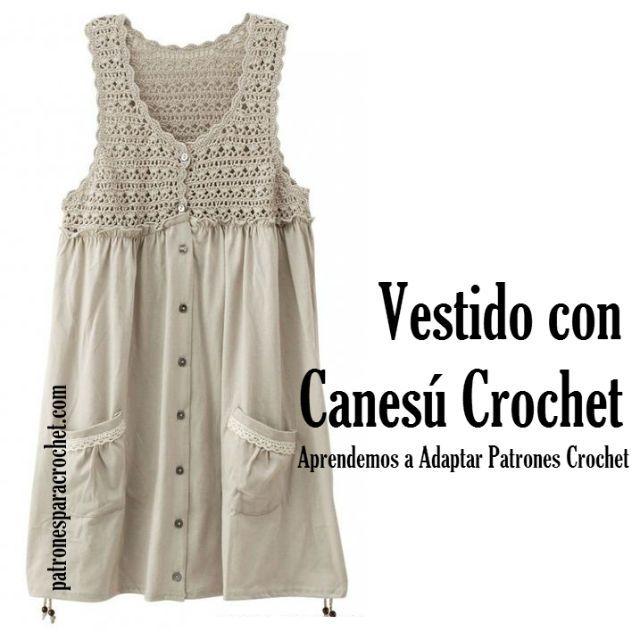 Patrones para Crochet | vestidos niña | Pinterest | Patrones, Tejido ...