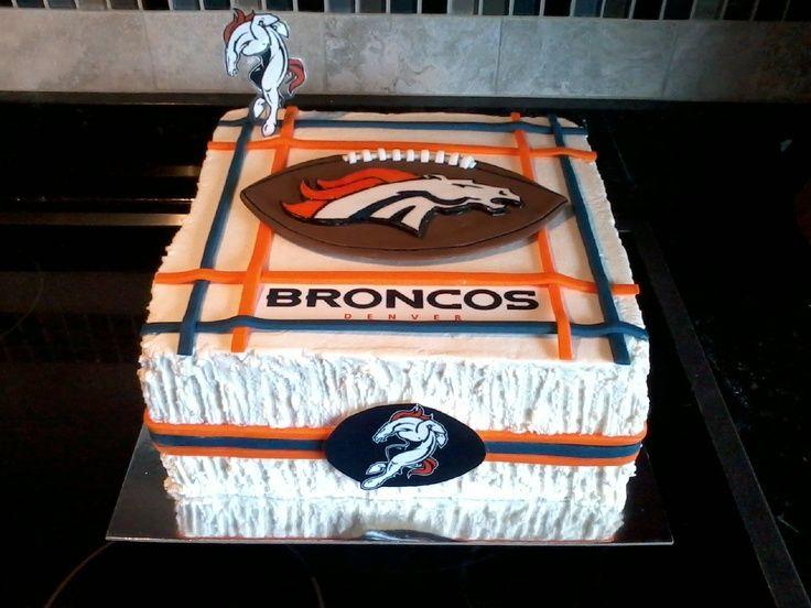 denver broncos cakes Denver Bronco cake Briannas bday cake