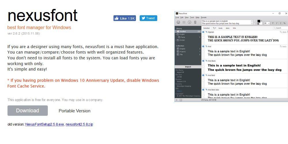 Nexus Font | Font Manager Tools | Fonts, Management, Tools