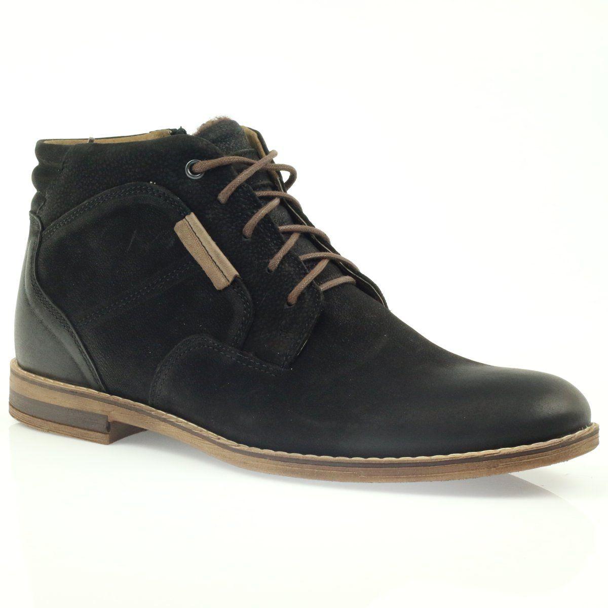 Sztyblety Meskie Riko Botki Sztyblety Na Suwak Riko Czarne Chukka Boots Boots Shoes