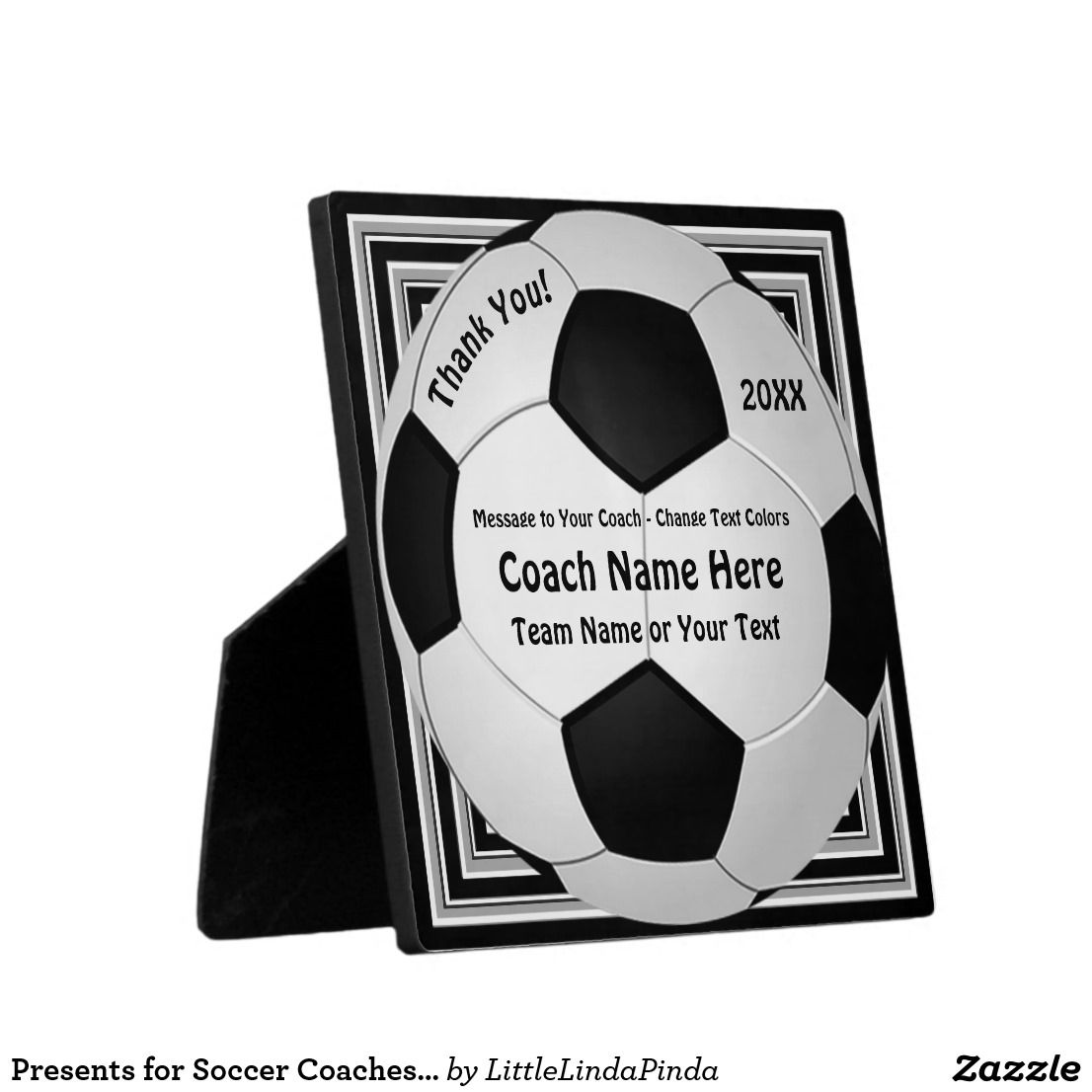 8726cf779 Thank You Presents for Soccer Coaches. CLICK Cool Personalized Soccer  Plaques Image with 4 Text