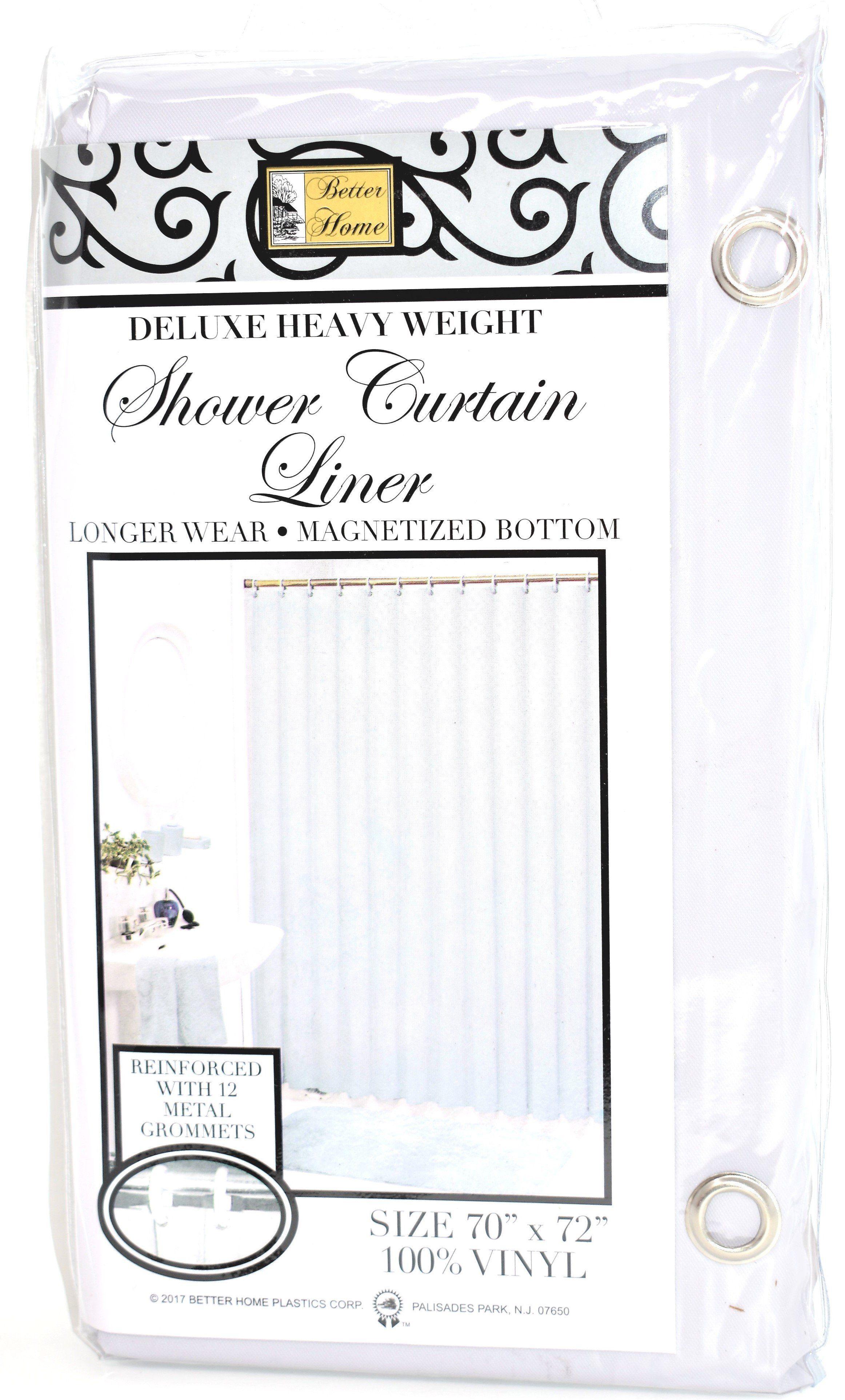 Deluxe Heavy Weight 100 Vinyl Shower Curtain Liner 70 X 72 Grey Color Vinyl Shower Curtains Shower Curtains