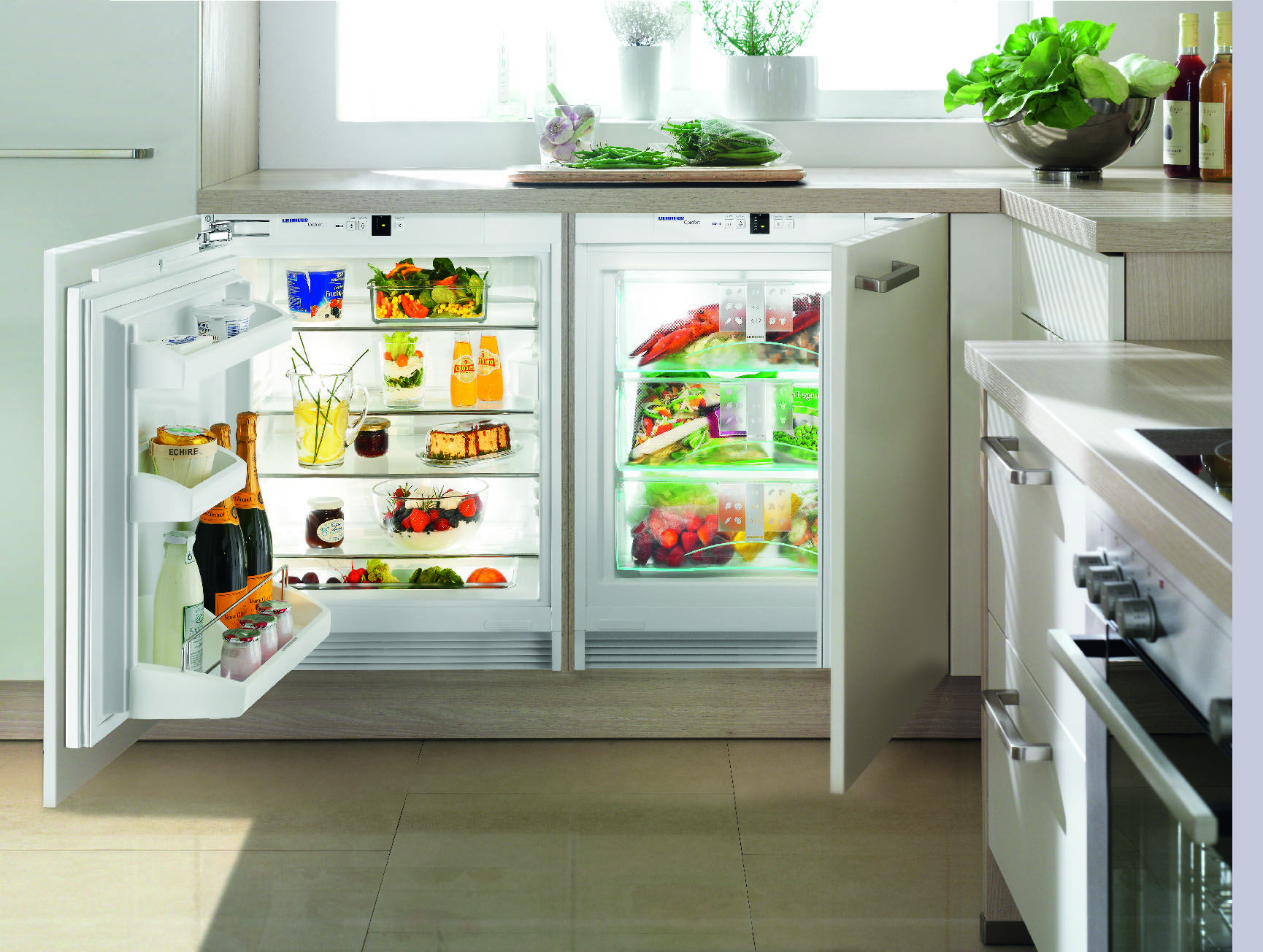 liebherr uik 1620(fridge) and uig 1313(freezer) | built-in