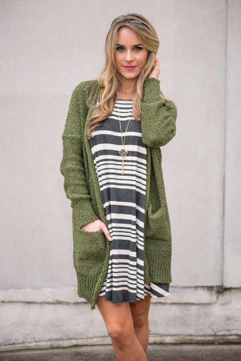 """Everything You Need Cardigan, Olive"" 