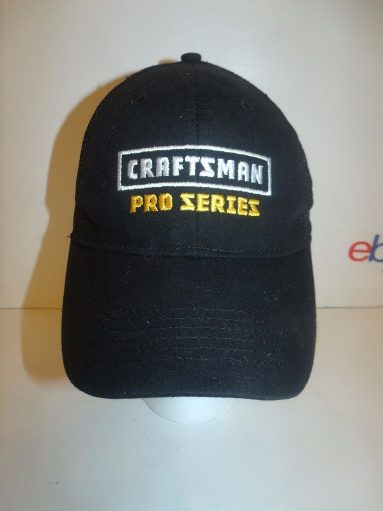 876e8c019eb Craftsman Pro Series Black Adjustable Trucker Hat  Craftsman