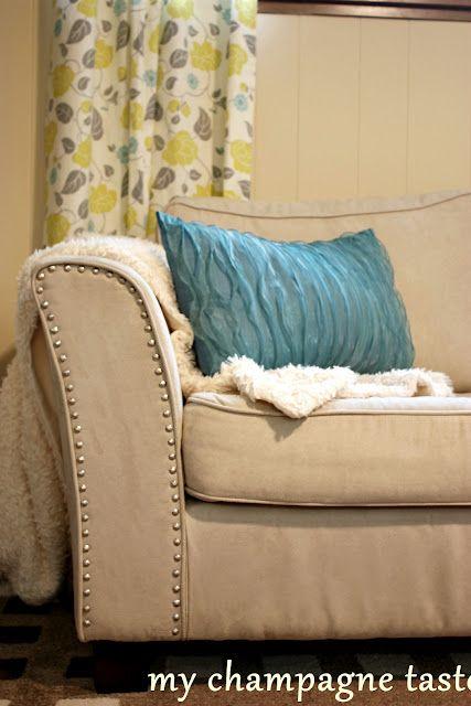 nailheads added to an Ikea sofa