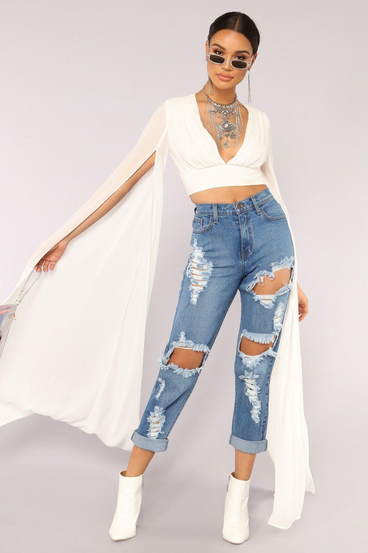 Sleeves For Days Top Off White Fashion Nova Outfits Fashion Fashion Nova