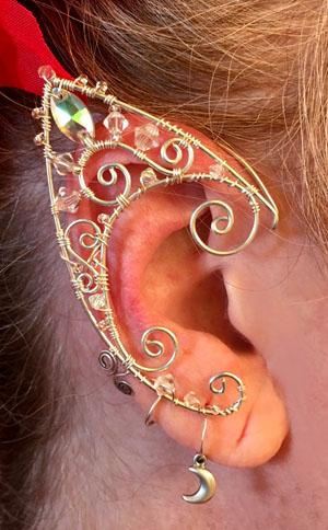 Wire Ear Cuffs Copper Elf Ears Wire Jewelry Wire Wrapped Earrings Elf Wire Earrings Silver Elf Ears Elven ears Elf Ear Cuffs