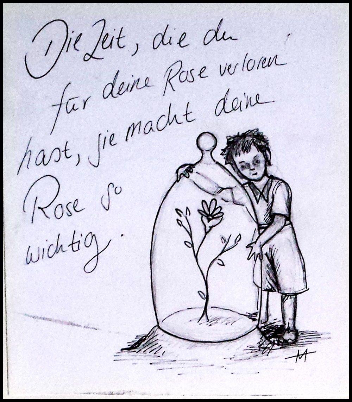 Der Kleine Prinz Und Seine Rose Sprüche Der Kleine Prinz