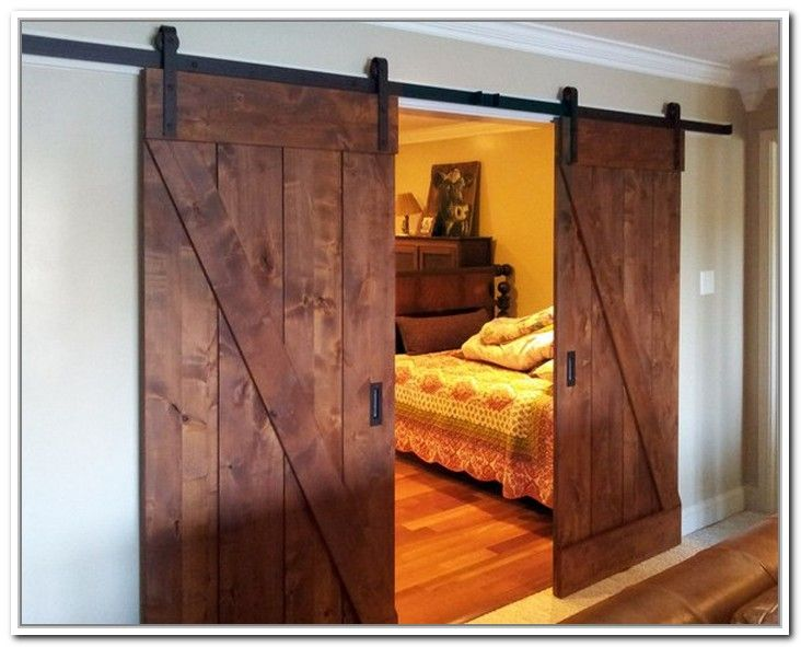 With Closet Barn Doors With Posts Related To Barn Door Closet Track Diy  Barn Door Closet