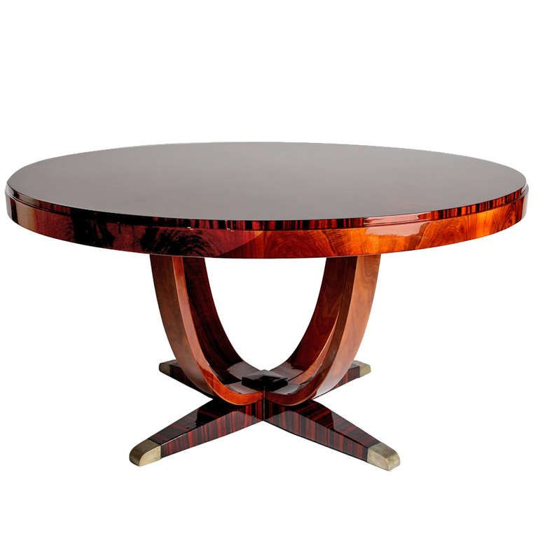 round art deco dining table