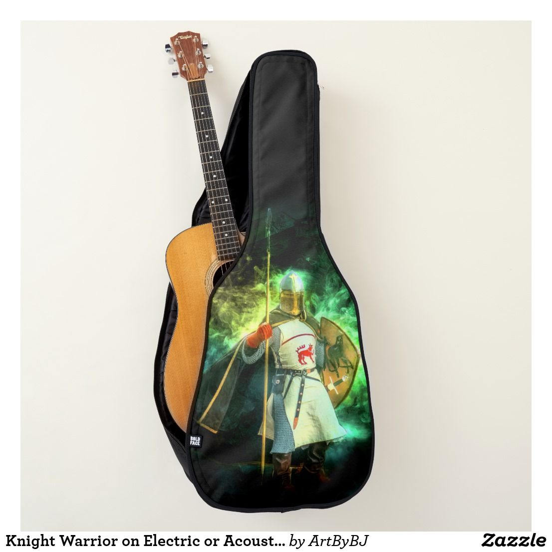 Knight Warrior On Electric Or Acoustic Guitar Case Zazzle Com Guitar Case Acoustic Guitar Case Guitar