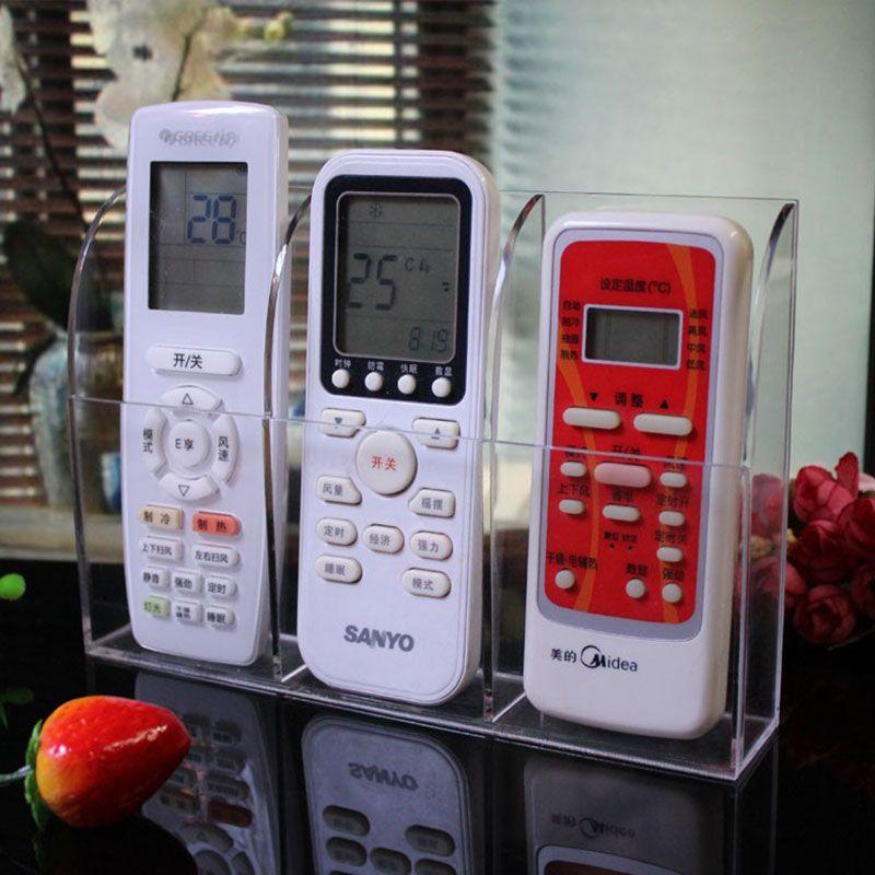 Ivosmart Clear Acrylic TV Remote Control Storage Holder Organizer Caddy