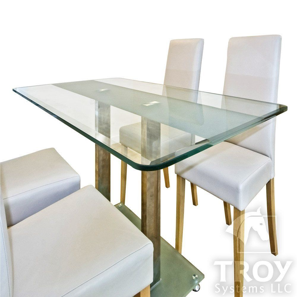 Dining Room Table Topper New Rectangle Glass Table Top 3 8 Inch Thick Bevel Polished Edge Tempered Meja Kopi Meja Kaca