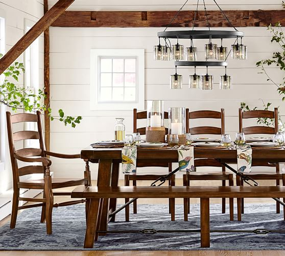 Benchwright Extending Dining Table | Pottery Barn:: table with chair ...
