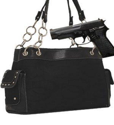 Black Fashion Signature Conceal and Carry Purse  #Cleto #Default