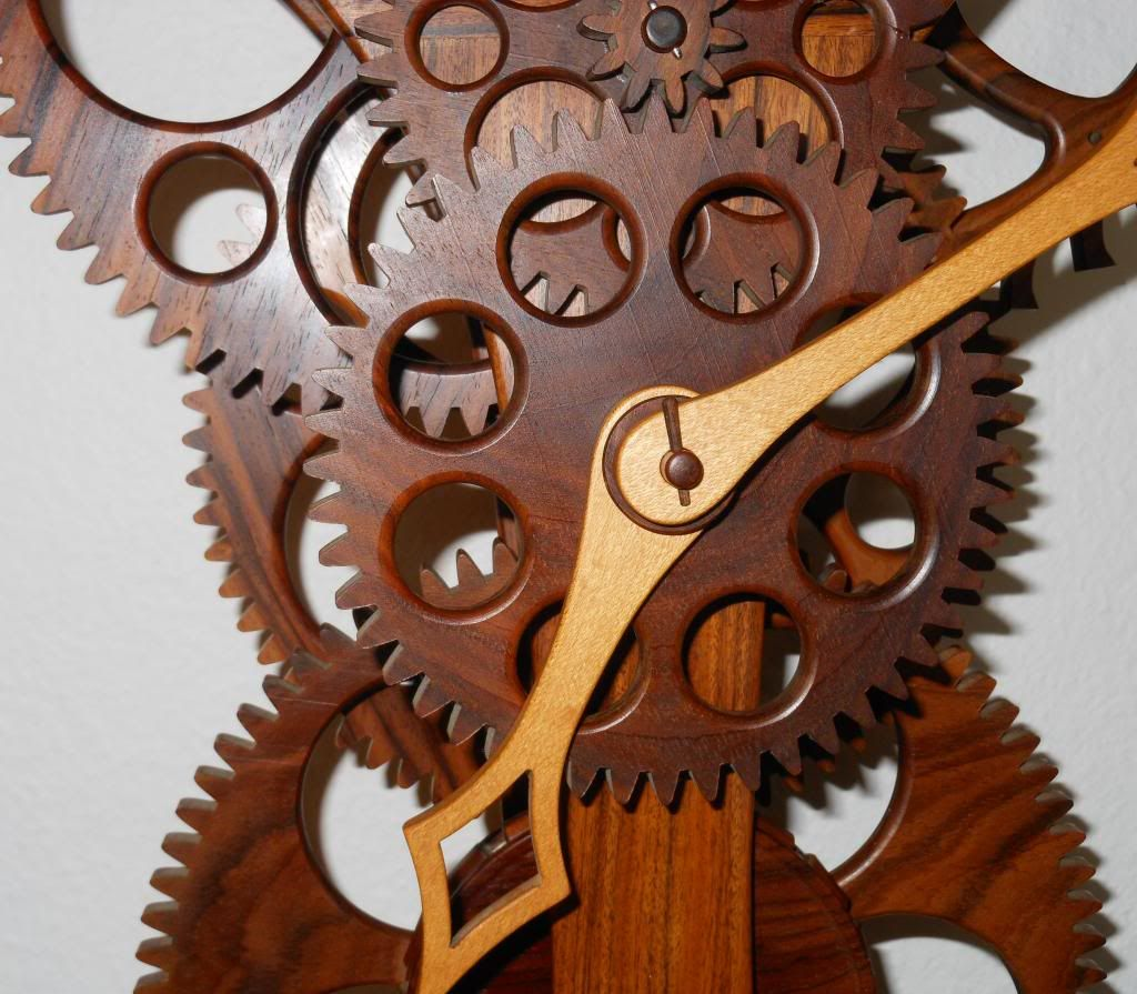 Wooden Clock Details About Wayne Westphale Wooden Clock Wood