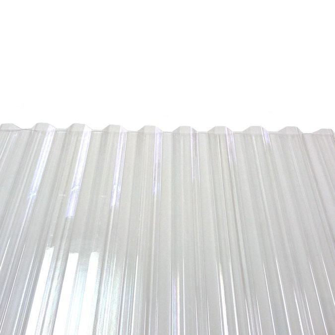 Tuftex Polycarb 2 17 Ft X 8 Ft Corrugated Clear Polycarbonate Plastic Roof Panel Lowes Com In 2020 Corrugated Plastic Roofing Polycarbonate Roof Panels Roof Panels