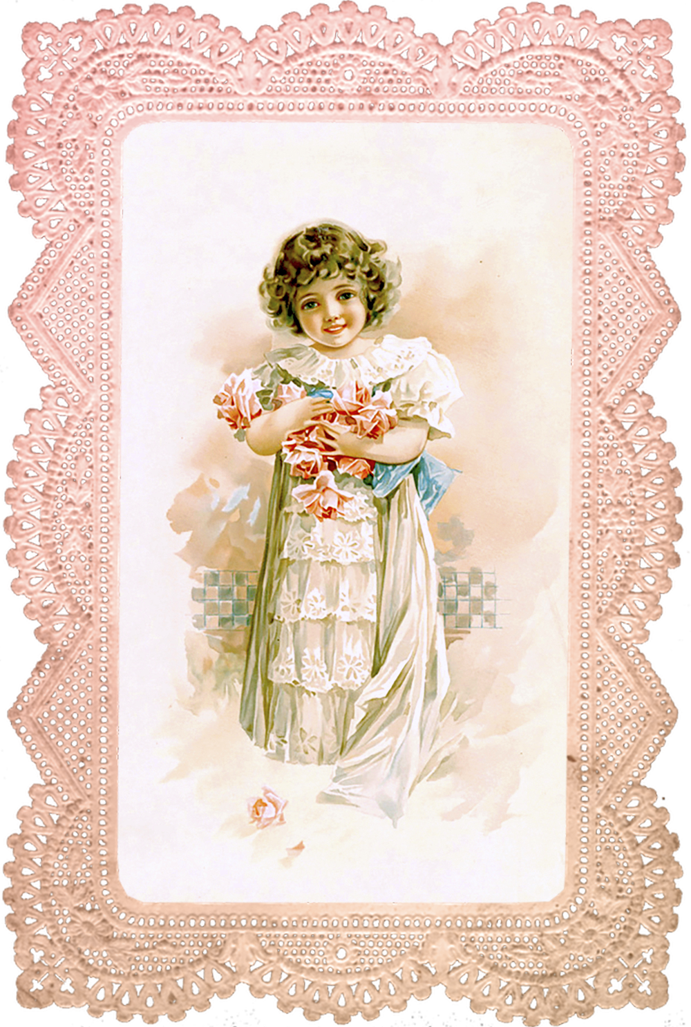 Rose Girl in Pink Lace Frame – No 1 of 2 | Paberid ja ...