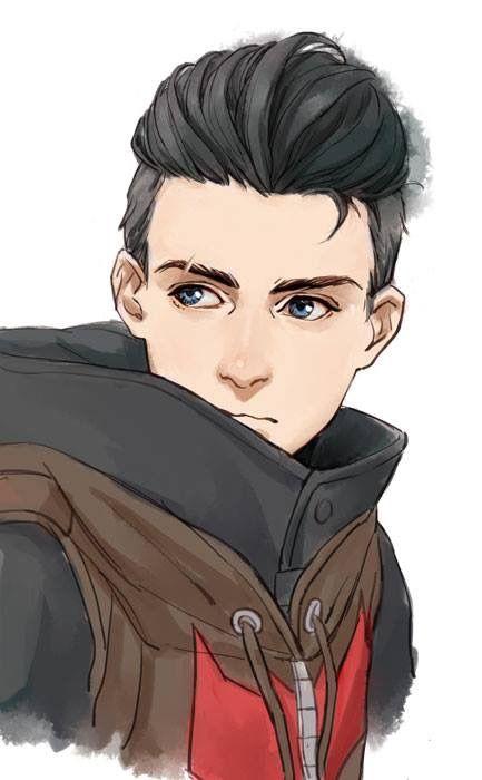 Guy Wavy Hair Coat Character Design Male Character Inspiration Cartoon Drawings