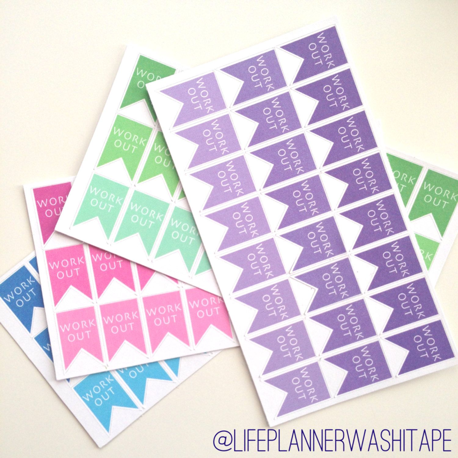 24 Work Out Stickers For Plum Planner Erin By