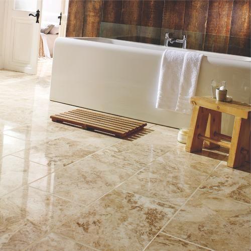 Polished Marble Floor Tile Tiles Flooring Wickes