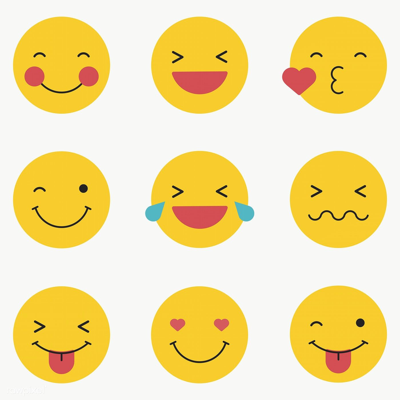 Download Premium Png Of Round Yellow Emoticon Set Emoticon Set Isolated On Emoticon Vector Background Pattern Emoji Drawings