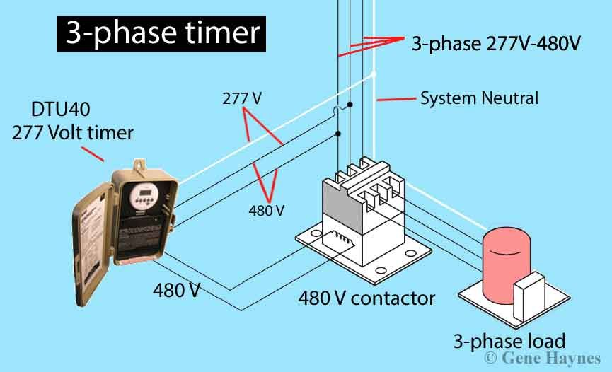 How To Wire 3 Phase Electric Http Waterheatertimer Org How To Wire