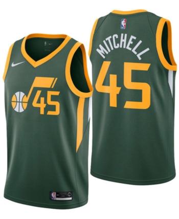 new product 33f56 5e8d0 Nike Donovan Mitchell Utah Jazz Earned Edition Swingman ...