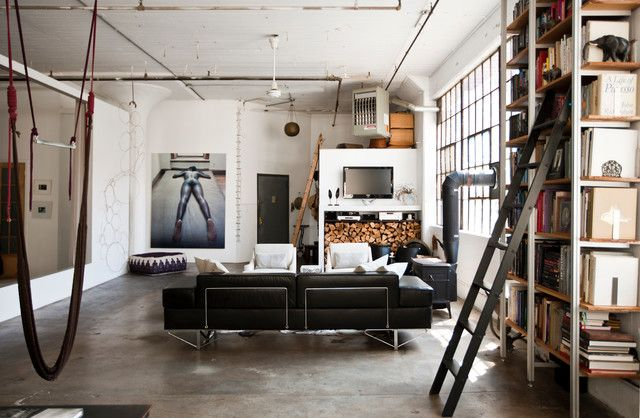 Cute Meets Industrial In A Brooklyn Loft Industrial  Pictures