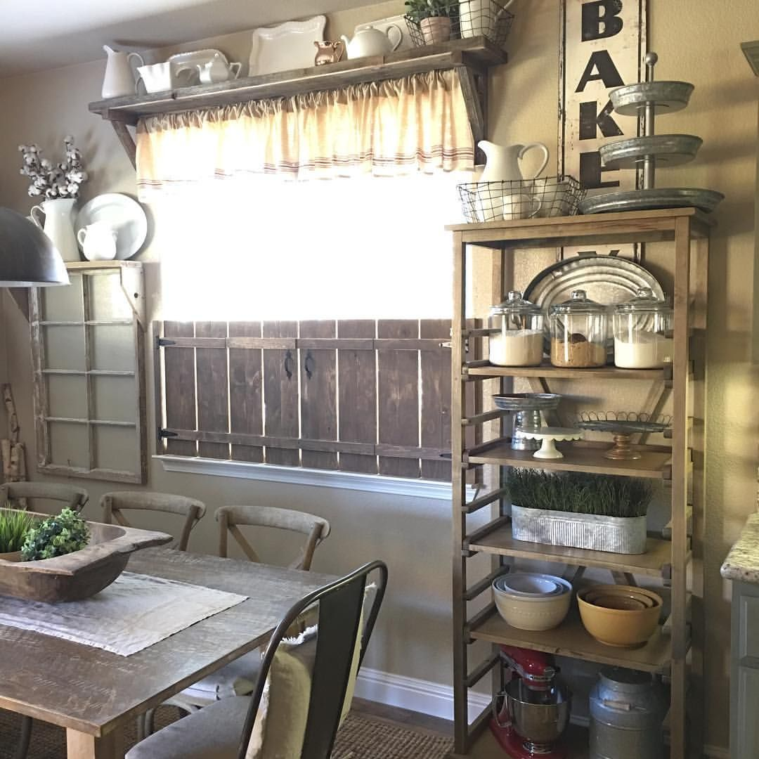 Rustic Bakers Rack In Dining Room With Images Rustic House