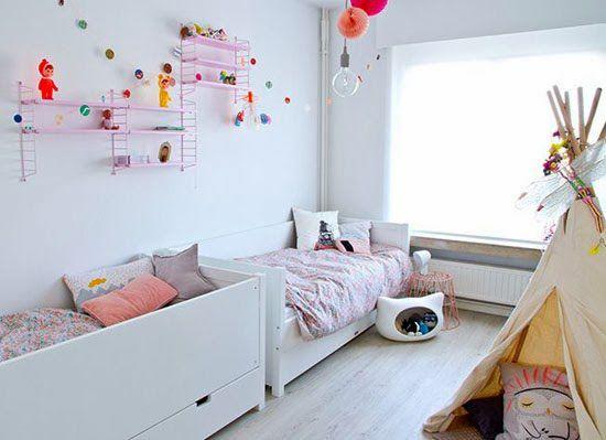gedeelde kinderkamer ideen wooninspiratie gedeelde kamers schattige kinderen schattige babys kinderkamer