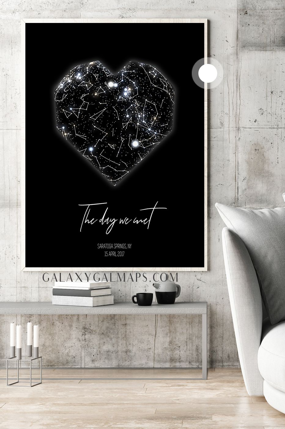 PERSONAL Star Map by DATE and Location - 13th Anniversary Gift for Men 13 Year for Women Present Idea Him Her Gift Wife Husband Wedding Anniversary Gift ...