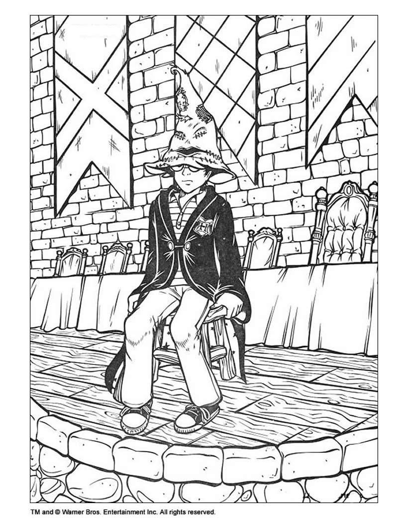 Harry Potter Coloring Page Adult Colouring Pinterest Harry