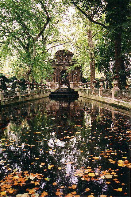 Fuente Medici Jardines De Luxemburgo Paris Luxembourg Gardens
