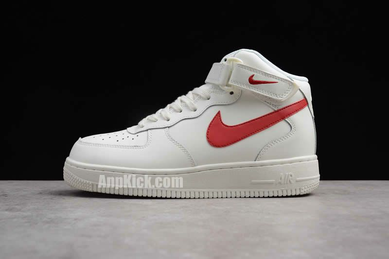 competitive price e050b f11ea air force 1 red and white mid mens womens nike af1 315123 126 (15)