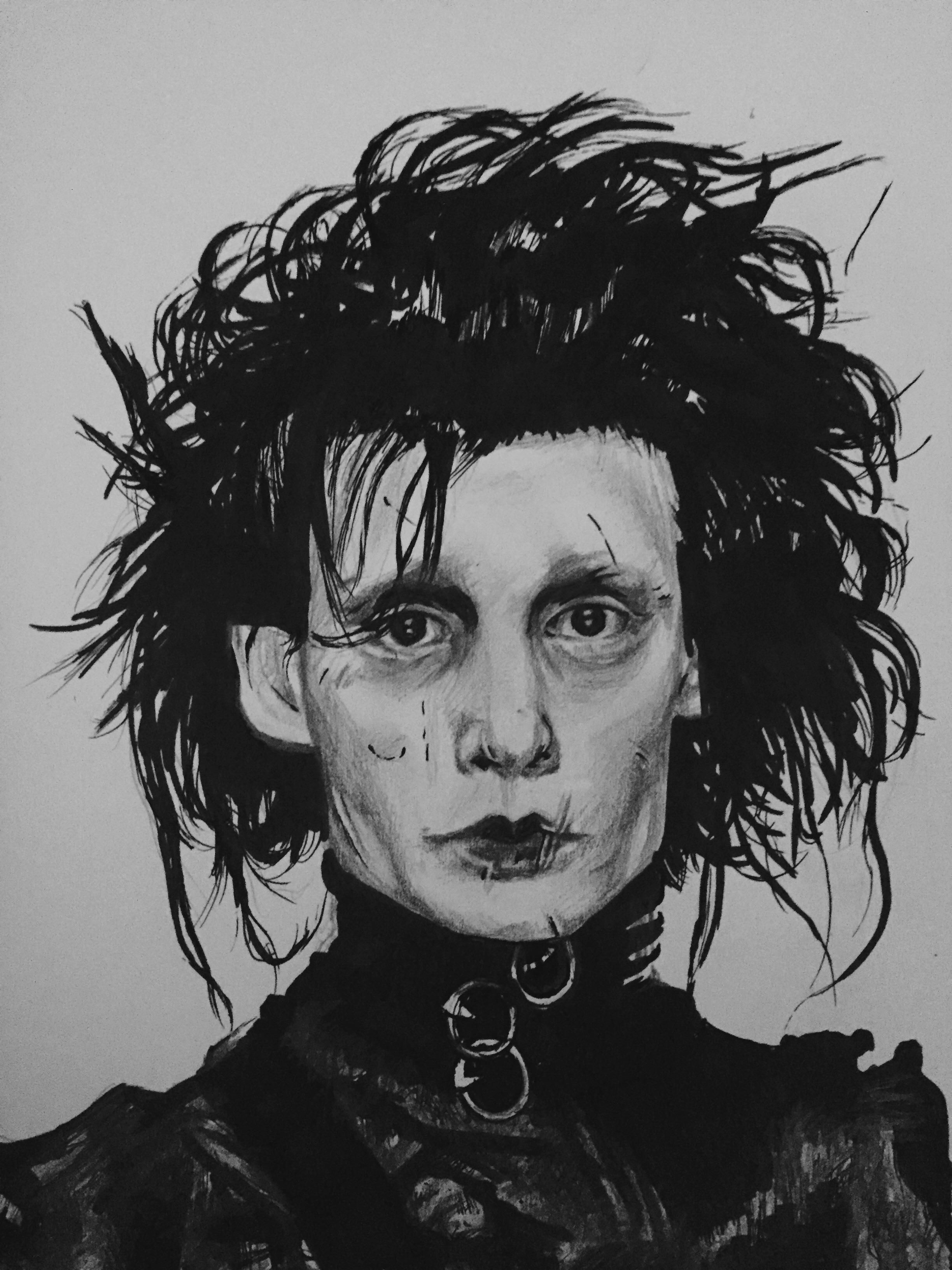 Edward Scissorhands By Lizerqueen Drawings Beetlejuice Fan Art